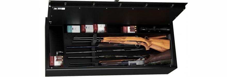 Installer une armoire forte pour sa collection de fusil