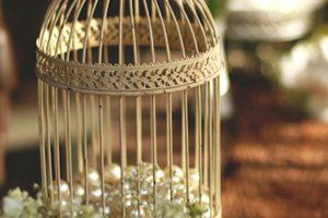 Cage à oiseau en métal